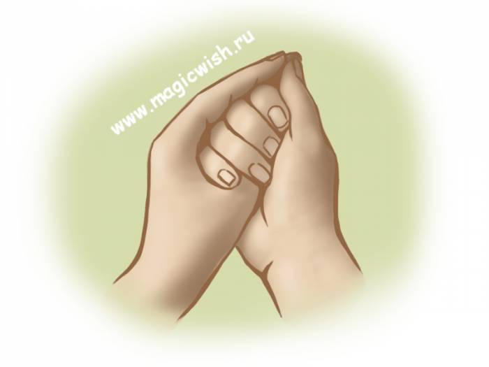 мудра раковина при болях в горле
